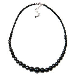 Pearlz Ocean Sterling Silver Hematite Bead Journey Necklace