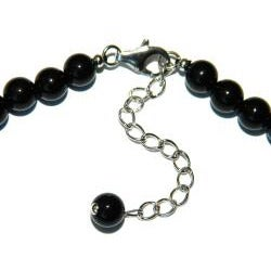 Pearlz Ocean Sterling Silver Black Onyx Bead Journey Necklace