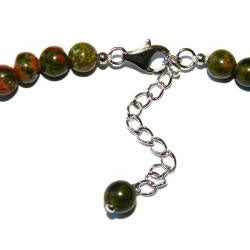 Pearlz Ocean Sterling Silver Unakite Journey Necklace
