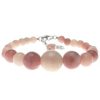 Pearlz Ocean Sterling Silver Pink Opal Journey Bracelet