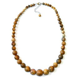 Pearlz Ocean Sterling Silver Picture Jasper Journey Necklace