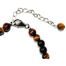 Pearlz Ocean Sterling Silver Tiger's Eye Journey Bracelet