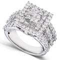 14k Gold 2ct TDW Diamond Princess Cut Halo Ring