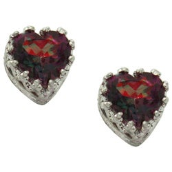 Sterling Silver Bodacious Topaz Heart Earrings