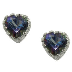 Sterling Silver Mystic Blue Topaz Earrings