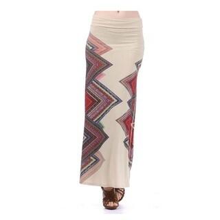 Tabeez Women's Geometric Print Maxi Skirt