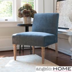 angelo:HOME Bradstreet Twillo Bluestone Upholstered Armless Chair