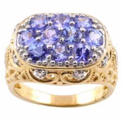 Michael Valitutti 14k Gold Tanzanite and 1/10ct TDW Diamond Ring (I-J, I1-2)
