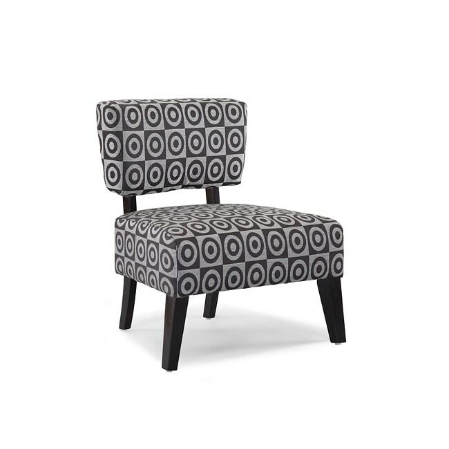 Delano Bulls Eye Grey Accent Chair