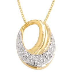 Gold over Silver 1/10ct TDW Diamond Fashion Necklace (H-I, I3)