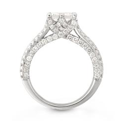 14k White Gold 3 1/2ct TDW Princess-cut Diamond Engagement Ring (H, I1)