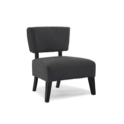 Delano Grey Stripe Accent Chair