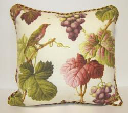 Shannon Printed Floral and Bird Decorative Toss Pillow