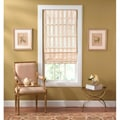 Cordless Off-white Striped Fabric Roman Shade