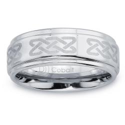 Cobalt Men's 8-mm Laser-etched Band