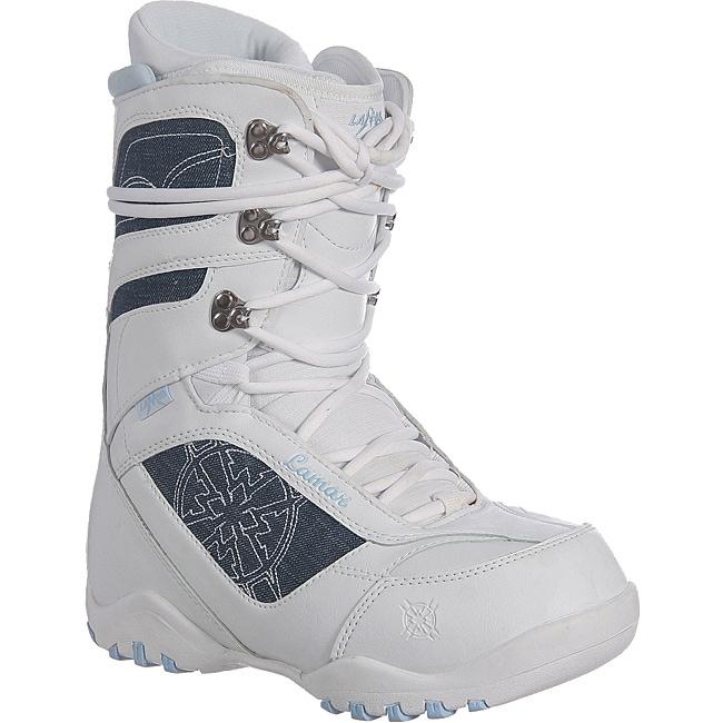 Lamar Justice Women's White/ Denim Snowboard Boots