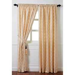 "Cottage Home Magalie Gold Silk 96"" Drapery Panel"