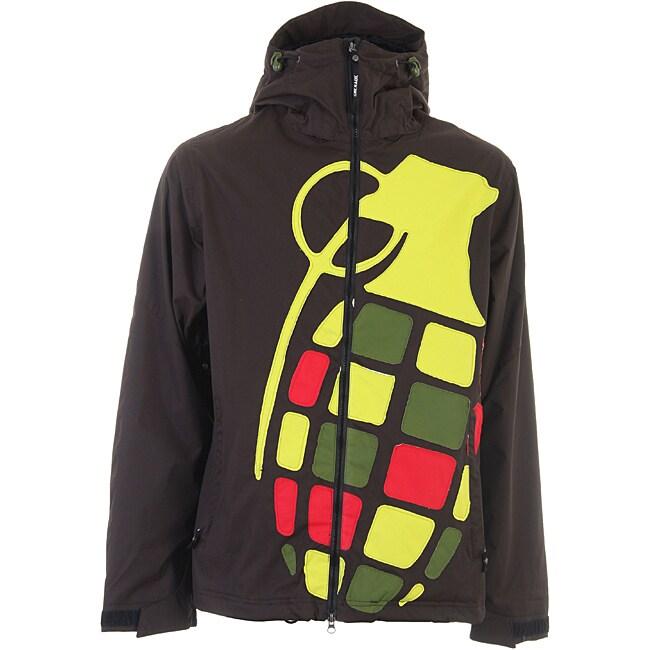 Grenade Men's Black Rasta Exploiter Snowboard Jacket