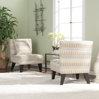 Bella Slipper Chairs with Pillows (Set of 2)