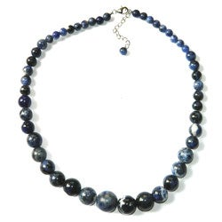 Pearlz Ocean Sterling Silver Blue Sodalite Journey Necklace