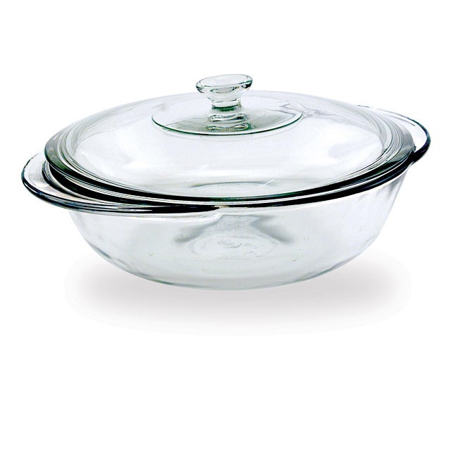 Anchor Hocking Clear Covered 2-quart Casserole Dish (Set of 2)