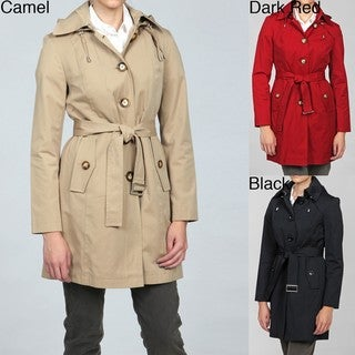 Michael Kors Women's Belted Hooded Trench Coat FINAL SALE