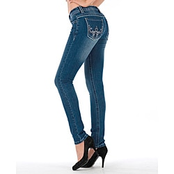 MDZ Women's 'Stella' Light Wash Skinny Jeans