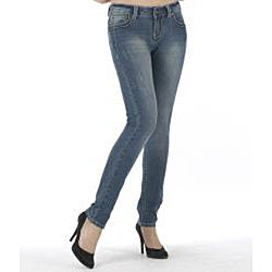 MDZ Women's 'Stella' Medium Wash Skinny Jeans