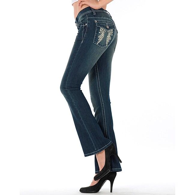 MDZ Women's 'Kloe' Dark Wash Bootcut Jeans