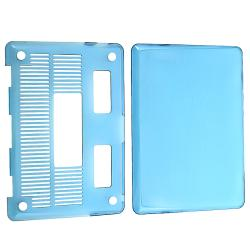 Clear Blue Snap-on Case for Apple MacBook Pro 13-inch