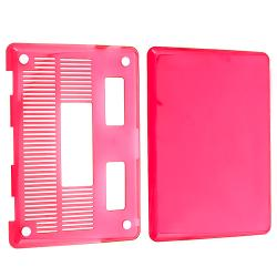 INSTEN Clear Pink Snap-on Laptop Case Cover for Apple MacBook Pro 13-inch