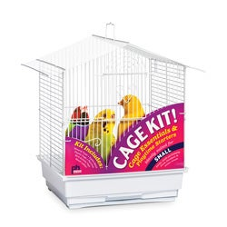 Prevue Pet Products House Style Roof Bird Cage Kit White 91104
