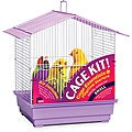 Prevue Pet Products House Style Roof Bird Cage Kit White & Lilac 91111