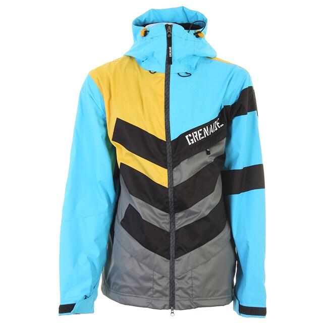 Grenade Men's Sullen/ Blue Chevron Snowboard Jacket