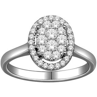 De Couer 10k White Gold 1/2ct TDW Diamond Engagement Ring (H-I, I2)