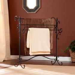 Upton Home Black Metal Quilt Rack