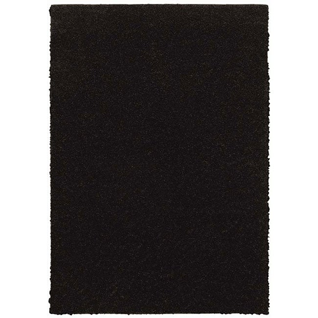 Grand Slam Black Shag Rug 5 39 X 7 39 13940883 Overstock