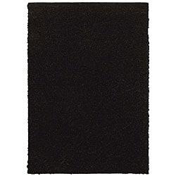 Grand Slam Black Shag Rug (5' x 7')