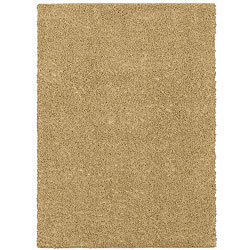 Grand Slam Beige Shag Rug (5' x 7')
