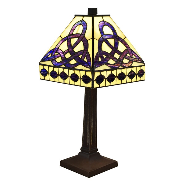 Warehouse of Tiffany-style Mission Geo Table Lamp
