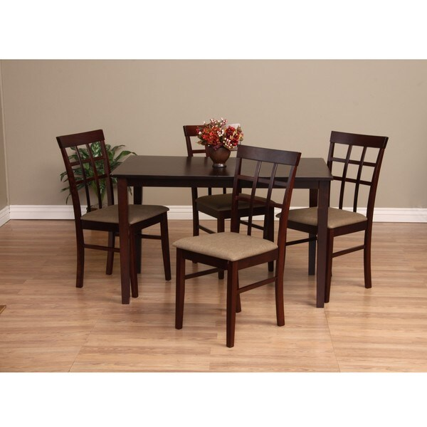 Warehouse of Tiffany Justin 5 Piece Latte Dining Furniture