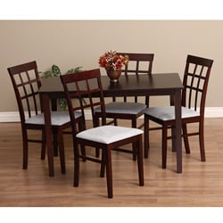 Warehouse of Tiffany Justin 5-Piece Grey Dining Furniture Set
