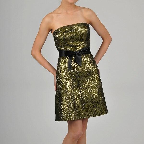 Decode 1.8- Contemporary Women's Belted-Waist Social Dresses