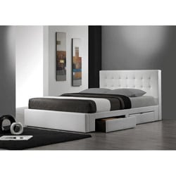 Belmont White King-size Storage Bed