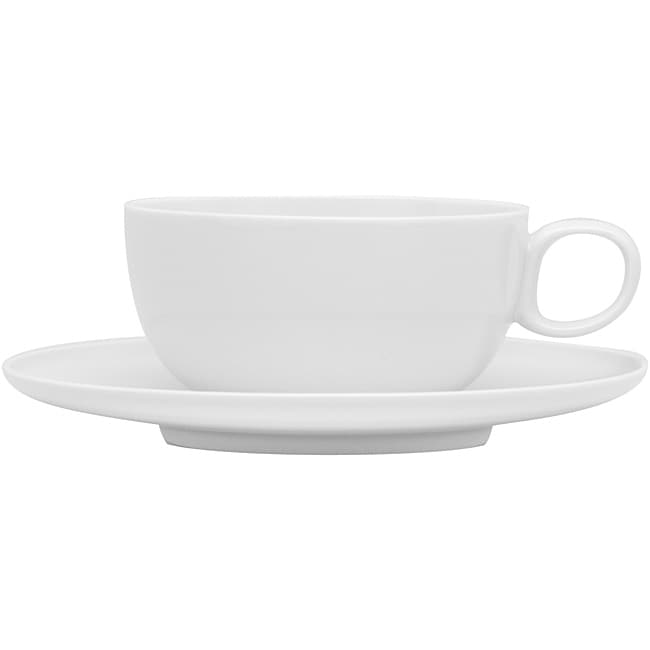 Red Vanilla Everytime White Espresso Cups and Saucers (Set of 6)