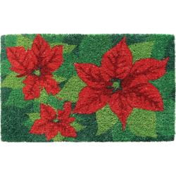Poinsettias Hand-woven Coir Doormat 18' x 30'