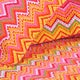 Orange Zig-Zag Cotton 3-piece Quilt Set