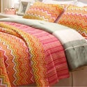 Orange ZigZag 3-piece Quilt Set