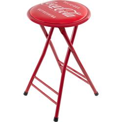 Coca-Cola 24-inch Red Folding Stool with Coke Logo