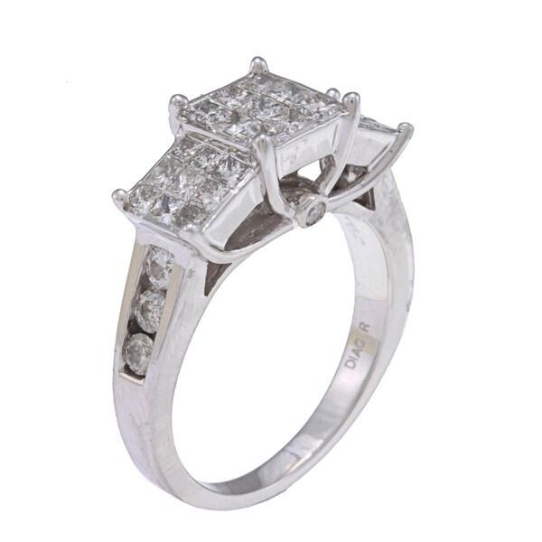 10k White Gold 1 1/2ct TDW Diamond Engagement Ring (H-I, I2-I3)
